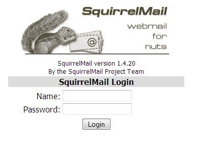 squirrelmail login